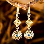 Nefertiti Lotus Earrings Gold 822