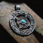 Norse Amulet with Turquoise 268