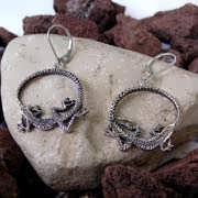 Ouroboros Earrings Silver 530