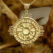 Personalized Cosmic Sigil Talisman Gold 733
