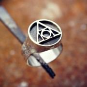 Philosopher's Stone Ring Silver