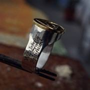 Philosopher's Stone Ring Silver and Gold