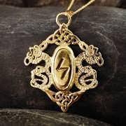 ルーン文字のペンダント ゴールド 426