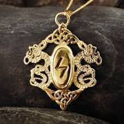 Rune Pendant Gold 426
