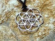 Кулон «Семя Жизни», серебро 16