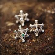 Inlaid Merkaba Silver Small 912