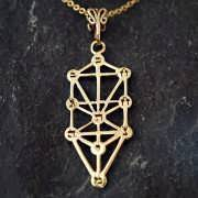 Tree of Life Sefirot Gold 880