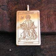 Tarot High Priestess Pendant Gold 541