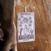 Tarot Star Card Pendant Silver 571