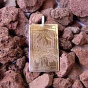 Tarot Chariot Card Pendant Gold 525