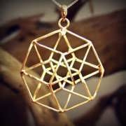Tesseract Pendant Gold