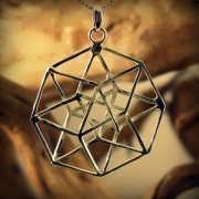 Tesseract Pendant Silver 736
