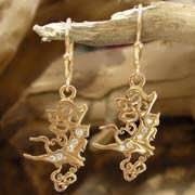 The Air Element Earrings Gold With Diamonds 647