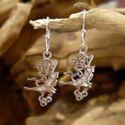 The Air Element Earrings Silver with Cubic Zirconia 646