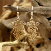 The Earth Element Earrings Gold With Diamonds 653