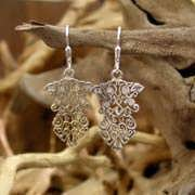 The Earth Element Earrings Silver with Cubic Zirconia 652