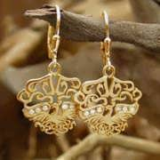 The Fire Element Earrings Gold With Diamonds 651
