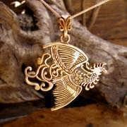 The Fire Element Pendant Gold 597