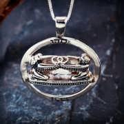 Vesica Pisces Silber 75
