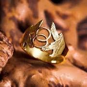 Vesica Pisces Ring Gold 682