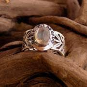 Inlaid Victory Ring silver with Moonstone 591