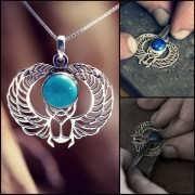 Кулон «Крылатый скарабей», серебро 269