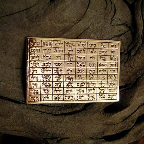 72 Names Tablet Gold