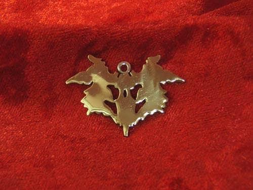 Blot of Rorschach pendant silver