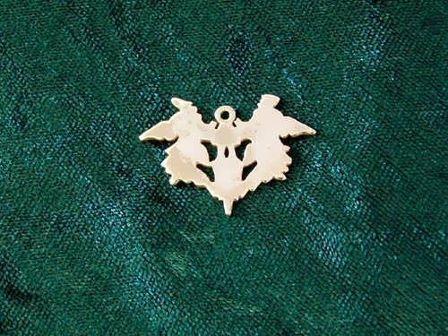 Blot of Rorschach Pendant Gold
