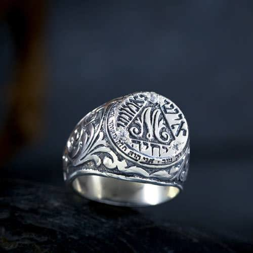 Anello Bulgakov - argento con zirconi