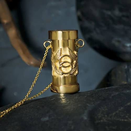Cosmic Motto Pendant Gold