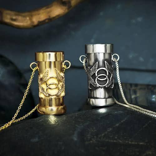 Cosmic Motto Pendant Silver