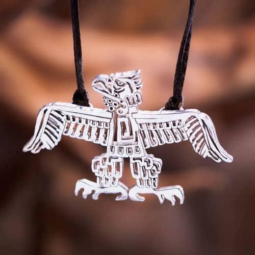 Native American Thunderbird Pendant Silver