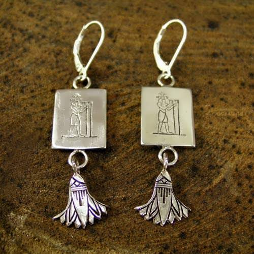 Aquarius Earrings Silver