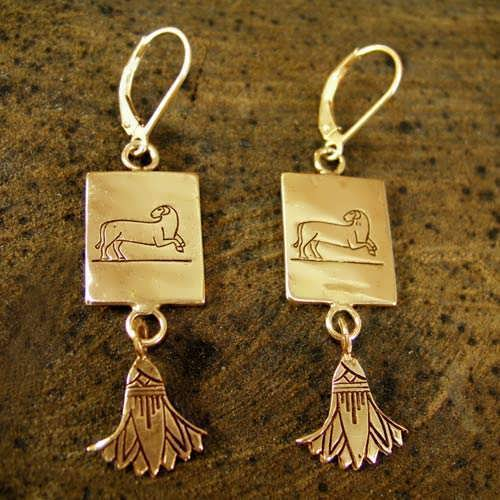 Aries Earrings Gold