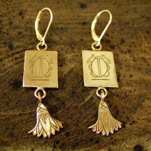 Cancer Earrings Gold