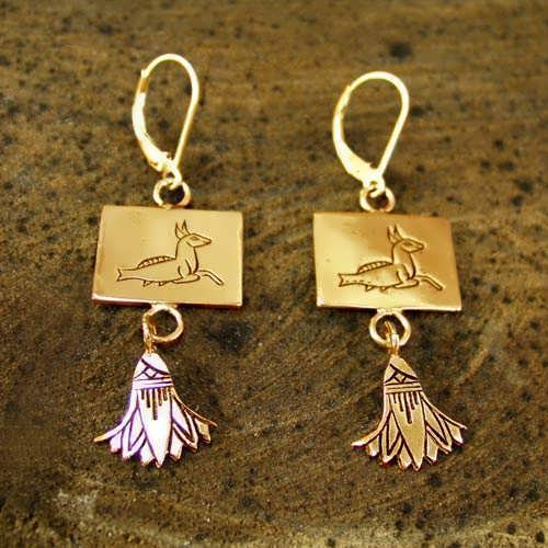Capricorn Earrings Gold