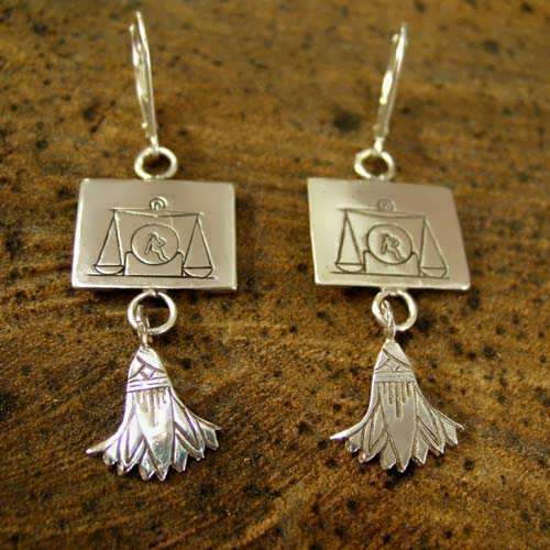 Libra Earrings Silver