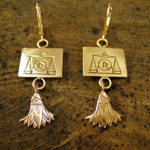 Libra Earrings Gold