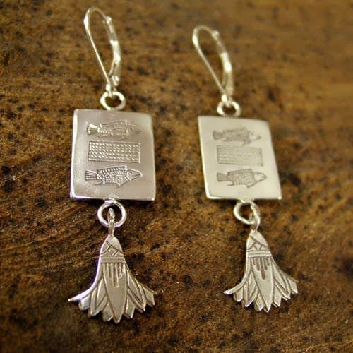 Pisces Earrings Silver