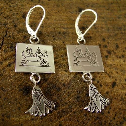 Sagittarius Earrings Silver