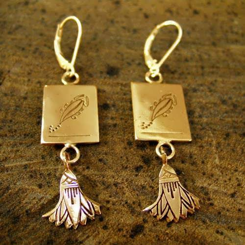 Scorpio Earrings Gold