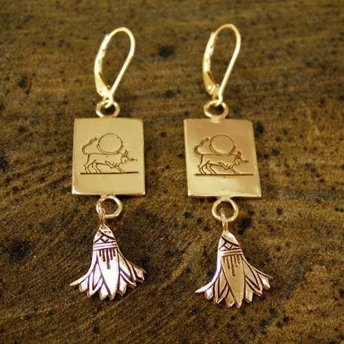 Boucles d'oreilles Taureau or