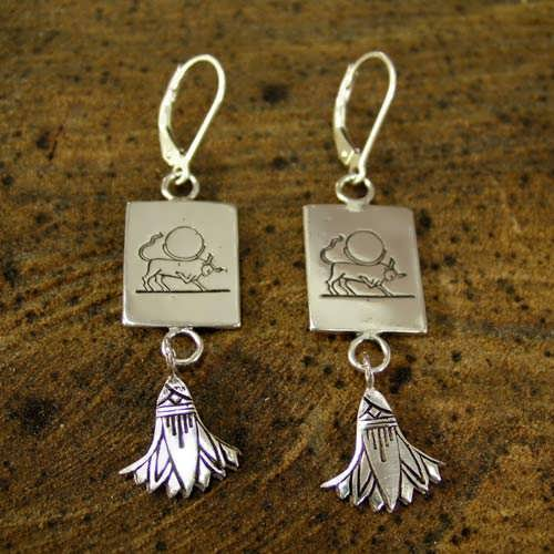 Taurus Earrings Silver