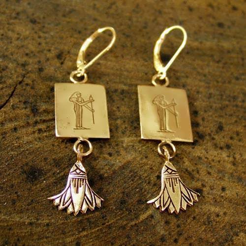 Virgo Earrings Gold