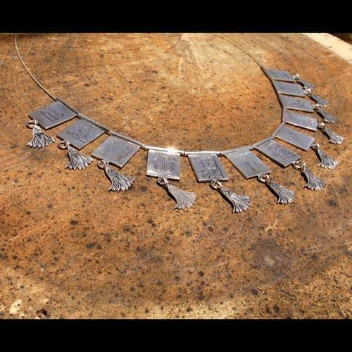 Egyptian Zodiac Necklace Silver