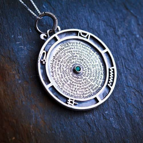 Emerald Tablet Pendant Mercury Silver (*Limited Edition*)