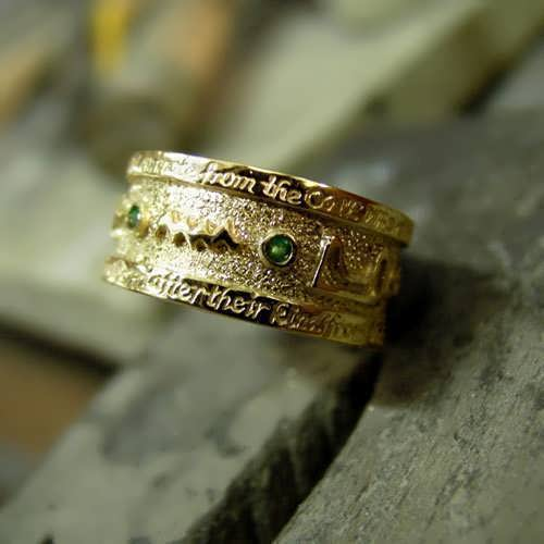Emerald Tablet Mercury Ring Gold (*Limited Edition*)