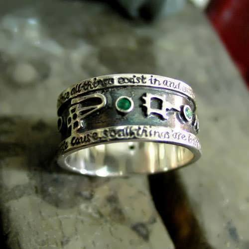 Emerald Tablet  Mercury Ring Silver (*Limited Edition*)