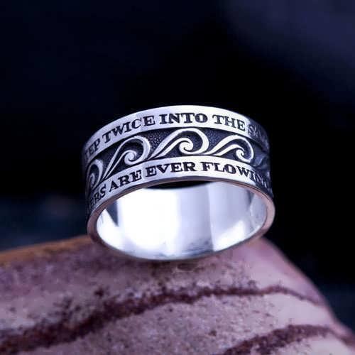 טבעת הזרימה האינסופית כסף